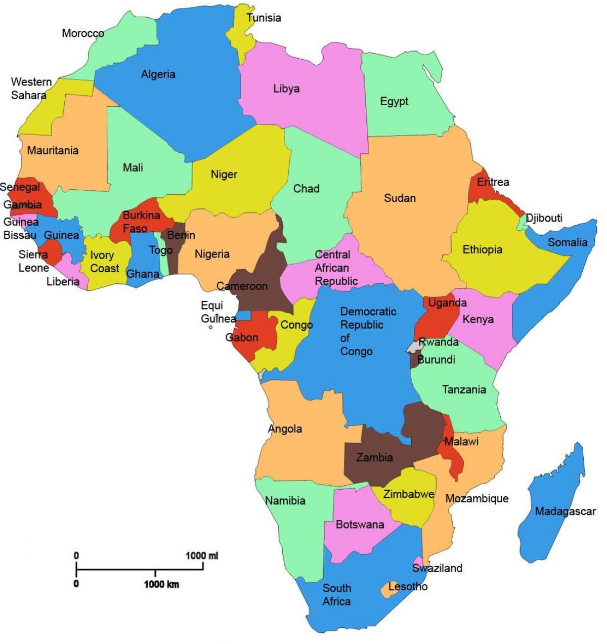 Tanzanie Afrika Mapa Mapa Afriky Ukazuje Tanzanie Vychodni